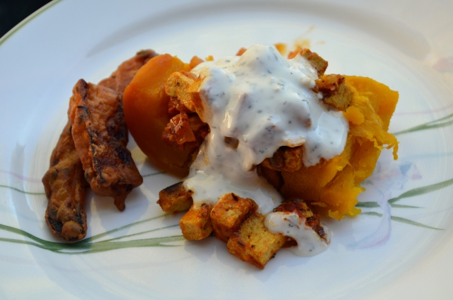 Savory Caramelized Pumpkin with Mint Cream Sauce